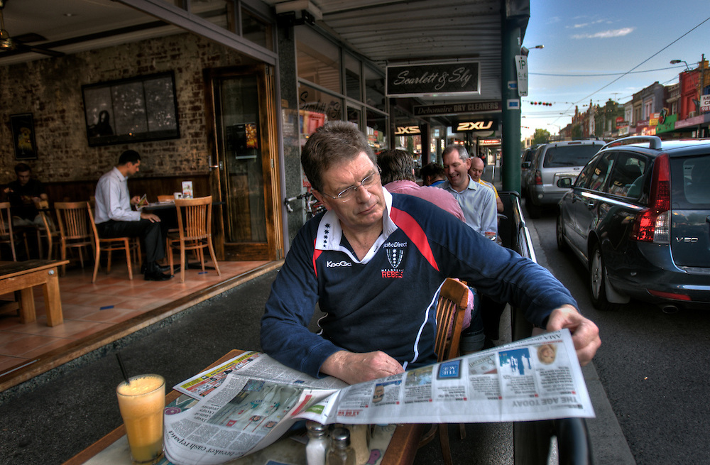 Victorian Premier Ted Baillieu after one year in office. Having breakfast at a Glenferrie rd cafe in Hawthorn. Pic By Craig Sillitoe CSZ/The Sunday Age.21/11/2011 This photograph can be used for non commercial uses with attribution. Credit: Craig Sillitoe Photography / http://www.csillitoe.com<br />