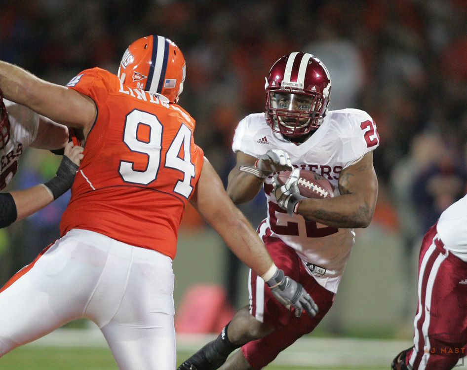 18 October 2008: Indiana running back Demetrius McCray (22) as the Indiana Hoosiers played the Illinois Illini in a college football game in Champaign, Ill..