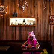 Steven Vandenberg enjoys a pre-race beer before the start of the Cupid's Undie Run at the Rattle Inn in Austin on Saturday, February 7, 2015. The run benefits a charity for neurofibromatosis research. Lukas Keapproth/AMERICAN-STATESMAN