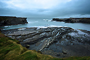 2nd January 2006 - the brooding sky and sea, at the Bridges of Ross on the Atlantic coast of Ireland. ..