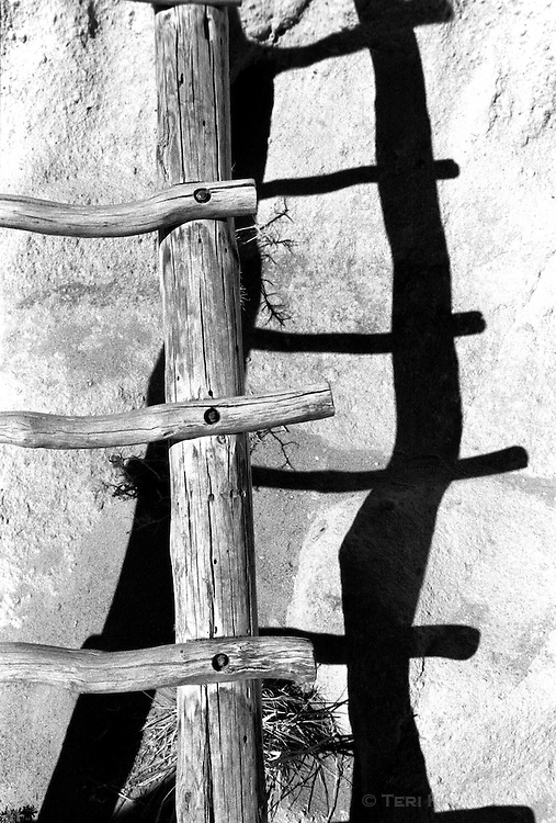 Ladder shadow, Bandolier National Monument, New Mexico
