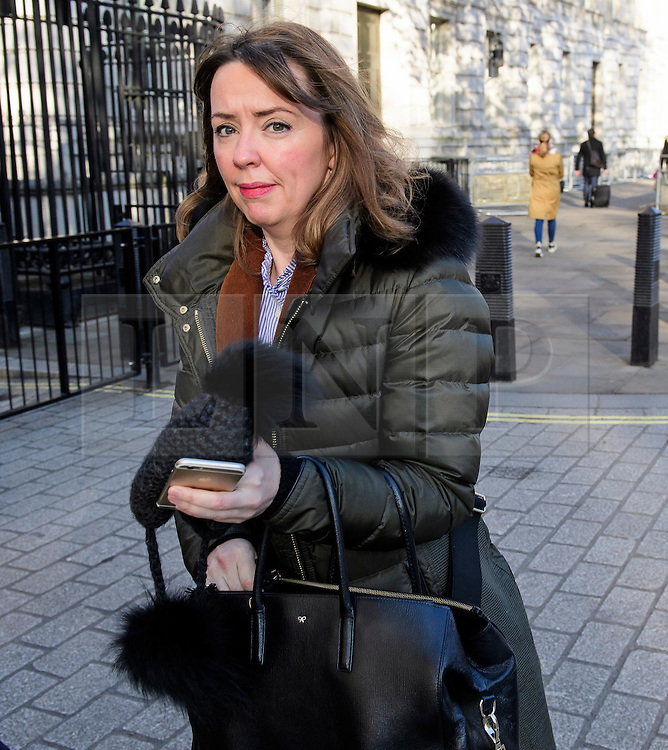 © Licensed to London News Pictures. 11/11/2016. London, UK. FIONA HILL, Advisor to British prime minister Theresa May,  arrives at Downing Street on November 11, 2016.  Photo credit: Ben Cawthra/LNP
