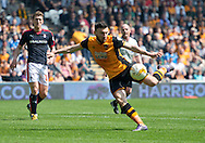 Robert Snodgrass of Hull City scores his team&rsquo;s equalising goal to make it 1-1 during the Sky Bet Championship match at KC Stadium, Hull<br /> Picture by Russell Hart/Focus Images Ltd 07791 688 420<br /> 07/05/2016