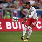 HARRISON, NEW JERSEY- OCTOBER 15: Michael Murillo #62 of New York Red Bulls in action during the New York Red Bulls Vs Atlanta United FC, MLS regular season match at Red Bull Arena, Harrison, New Jersey on October 15, 2017 in Harrison, New Jersey. (Photo by Tim Clayton/Corbis via Getty Images)