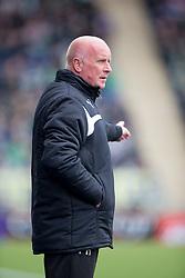 Falkirk's manager Peter Houston. <br /> Falkirk 0 v 3 Hibernian, Scottish Championship game played at The Falkirk Stadium 2/5/2015.