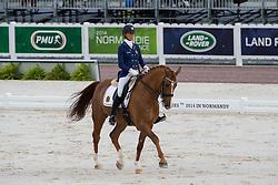 Michel George, (BEL), FBW Rainman - Freestyle Test Grade IV Para Dressage - Alltech FEI World Equestrian Games™ 2014 - Normandy, France.<br /> © Hippo Foto Team - Leanjo de Koster<br /> 25/06/14