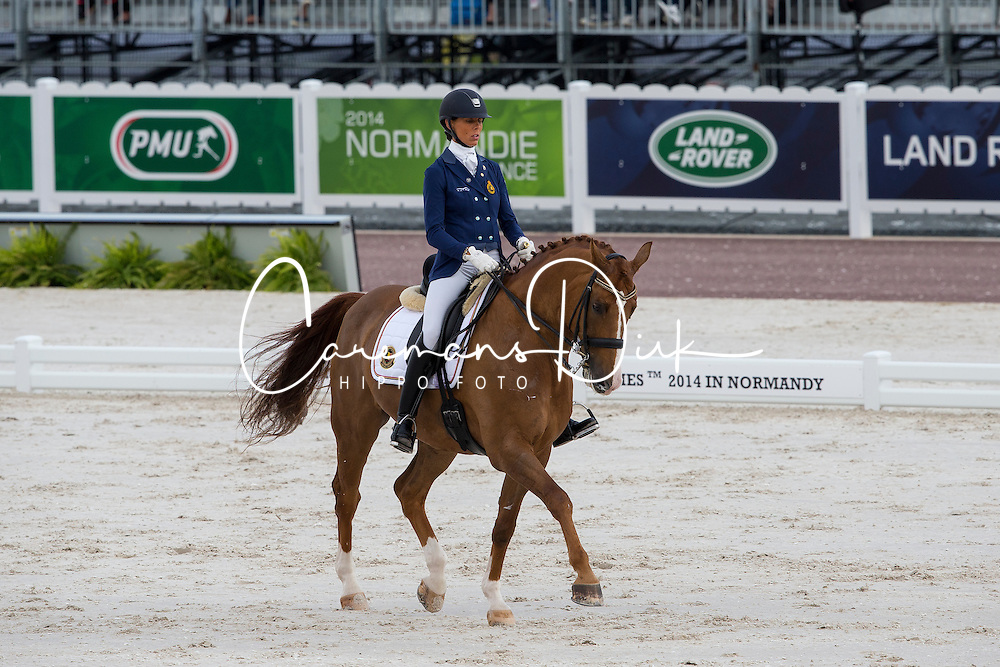 Michel George, (BEL), FBW Rainman - Freestyle Test Grade IV Para Dressage - Alltech FEI World Equestrian Games™ 2014 - Normandy, France.<br /> © Hippo Foto Team - Leanjo de Koster<br /> 25/06/14