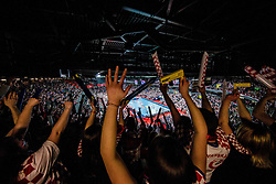Arena full of fans during handball match between National teams of Croatia and France on Day 7 in Main Round of Men's EHF EURO 2018, on January 24, 2018 in Arena Zagreb, Zagreb, Croatia.  Photo by Vid Ponikvar / Sportida
