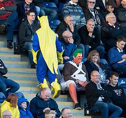 St Mirren fans. <br /> Falkirk 3 v 0 St Mirren. Scottish Championship game played 21/10/2015 at The Falkirk Stadium.