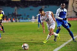 December 16, 2018 - Rades, Tunisia - Yassine Chammakhi (L)of CA and Emmanuel Chukwu  Ariwa (19)during the match 1 / 16th finals of the African Champions League between Club Africain(CA) de Tunis and El Hilal of Sudan at the Olympic Stadium Rades .CA-El HILAL 3/1. (Credit Image: © Chokri Mahjoub/ZUMA Wire)
