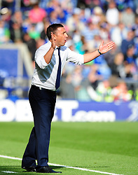 Bristol City Manager, Derek McInnes - Photo mandatory by-line: Joe Meredith/JMP  - Tel: Mobile:07966 386802 06/10/2012 - Leicester City v Bristol City - SPORT - FOOTBALL - Championship -  Leicester  - King Power Stadium