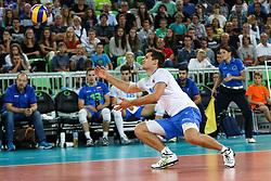 Gregor Ropret of Slovenia during friendly volleyball match between national teams of Slovenia and Brasil in Arena Stozice on 9. September 2015 in , Ljubljana, Slovenia. Photo by Matic Klansek Velej / Sportida