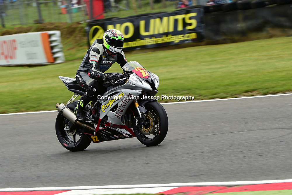 #12 Brad Jones Stalbridge Team Appleyard Macadam Racing Yamaha Pirelli National superstock 600 Championship