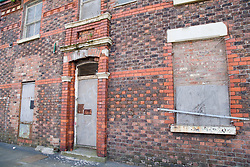 Boarded and bricked up derelict house in the Bootle area; Liverpool; England an area designated for the pathfinder regeneration scheme,