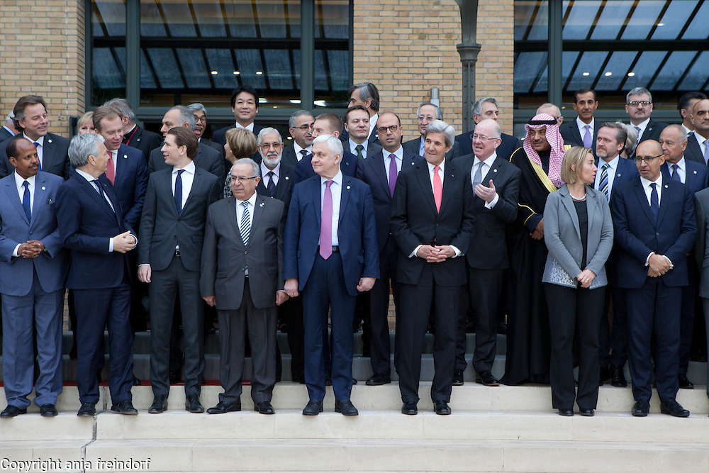 Middle East Peace Conference, Paris, France. International summit. 7O countries have participated in the summit.