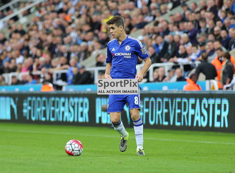 Newcastle United v Chelsea English Premiership 26 September 2015; Oscar (Chelsea, 8) during the Newcastle v Chelsea English Premiership match played at St. James' Park, Newcastle; <br /> <br /> &copy; Chris McCluskie | SportPix.org.uk