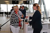 BELGRADO - 16-09-2015, aankomst vertrek AZ - FK Partizan, Partizanstadion,