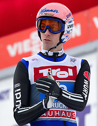 04.01.2015, Bergisel Schanze, Innsbruck, AUT, FIS Ski Sprung Weltcup, 63. Vierschanzentournee, Innsbruck, 2. Wertungsdurchgang, im Bild Michael Neumayer (GER) // Michael Neumayer of Germany reacts after his second competition jump for the 63rd Four Hills Tournament of FIS Ski Jumping World Cup at the Bergisel Schanze in Innsbruck, Austria on 2015/01/04. EXPA Pictures © 2015, PhotoCredit: EXPA/ JFK