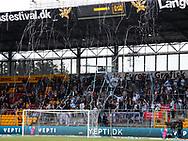 FODBOLD: FC Helsingør tilskuere før kampen i ALKA Superligaen mellem FC Nordsjælland og FC Helsingør den 21. august 2017 i Right to Dream Park, i Farum. Foto: Claus Birch