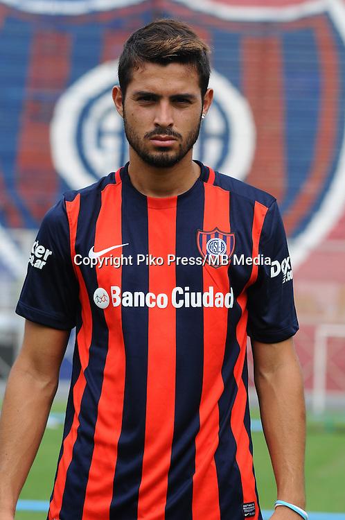 CAMPEONATO ARGENTINO Soccer / Football. <br /> SAN LORENZO de ALMAGRO Portraits <br /> Bs.As. Argentina. - April,28 , 2015<br /> Here San Lorenzo player ALEJANDRO BARBARO<br /> &copy; PikoPress