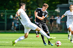 Slavko Brekalo of NK Krsko vs Rok Sirk of NS Mura during football match between NS Mura and NK Krsko in 5th Round of Prva liga Telekom Slovenije 2018/19, on August 19, 2018 in Mestni stadion Fazanerija, Murska Sobota, Slovenia. Photo by Mario Horvat / Sportida