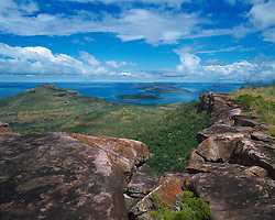 View from the top of Mt Trafalgar overlooking the Buccaneer Archipelago.