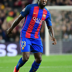 Samuel Umtiti of Barcelona during the Uefa Champions League Round of 16 second leg match between FC Barcelona and Paris Saint Germain at Camp Nou on March 8, 2017 in Barcelona, Spain. (Photo by Dave Winter/Icon Sport)
