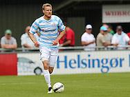 FODBOLD: Andreas Holm (FC Helsingør) under kampen i Bet25 Ligaen mellem FC Helsingør og Næstved Boldklub den 2. august 2015 på Helsingør Stadion. Foto: Claus Birch