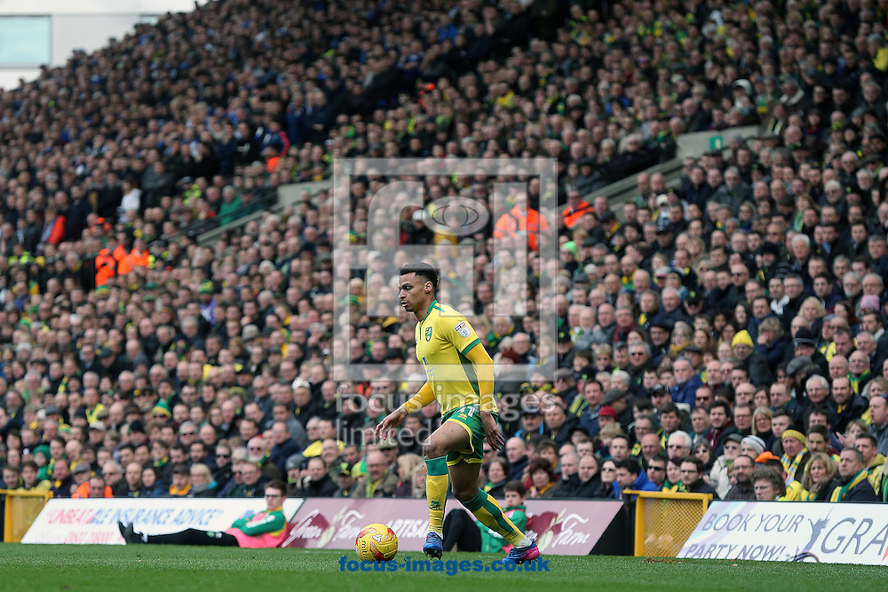 Josh Murphy of Norwich in action during the Sky Bet Championship match at Carrow Road, Norwich<br /> Picture by Paul Chesterton/Focus Images Ltd +44 7904 640267<br /> 26/02/2017