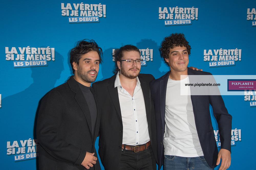 Yohan Manca - Mickael Lumière - Anton Csaszar Avant première du film La vérité si je mens les débuts Mardi 15 Octobre 2019 Le Grand Rex Paris