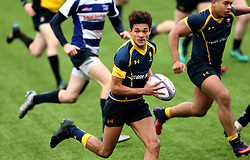Dion King (King's Worcester) of Worcester Warriors U18 runs with the ball - Mandatory by-line: Robbie Stephenson/JMP - 29/01/2017 - RUGBY - Sixways Stadium - Worcester, England - Worcester Warriors U18 v Sale Sharks U18 - Premiership Rugby U18 Academy League