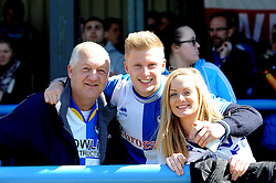 Bristol Rovers fans - Photo mandatory by-line: Neil Brookman/JMP - Mobile: 07966 386802 - 18/04/2015 - SPORT - Football - Dover - Crabble Athletic Ground - Dover Athletic v Bristol Rovers - Vanarama Football Conference