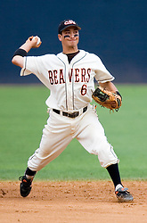 Oregon State Beavers OF Scotty Berke (6).  The Oregon State Beavers defeated the Rutgers Scarlet Knights 5-2 in Game 5 of the NCAA World Series Charlottesville Regional held at Davenport Field in Charlottesville, VA on June 4, 2007.