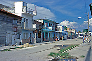 Cienfuegos Cuba, Decaying Houses, proud neighborhood, Republic of Cuba,