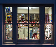 Photographs of a refit of the display for the John Corley Stained Glass Studio.