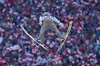 Hopp , BAD MITTERNDORF,AUSTRIA,16.JAN.16 - NORDIC SKIING, SKI JUMPING, SKI FLYING - FIS World Championships, Kulm, men. Image shows Kenneth Gangnes (NOR).<br /> Norway only