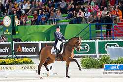 Mary Hanna, (AUS), Sancette - Grand Prix Special Dressage - Alltech FEI World Equestrian Games™ 2014 - Normandy, France.<br /> © Hippo Foto Team - Leanjo de Koster<br /> 25/06/14