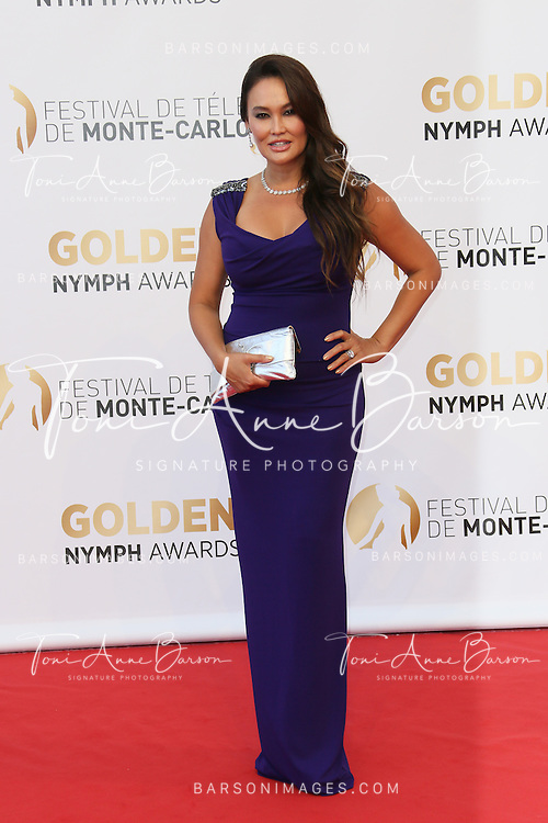 MONTE-CARLO, MONACO - JUNE 11:  Tia Carrere attends the Closing Ceremony and Golden Nymph Awards of the 54th Monte Carlo TV Festival on June 11, 2014 in Monte-Carlo, Monaco.  (Photo by Tony Barson/FilmMagic)