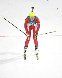 PYEONGCHANG, Feb. 12, 2018  China's Zhang Yan competes during women's 10km pursuit event of biathlon at the 2018 PyeongChang Winter Olympic Games at Alpensia Biathlon Centre in PyeongChang, South Korea, on Feb. 12, 2018. (Credit Image: © Wang Haofei/Xinhua via ZUMA Wire)