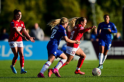 Ebony Salmon of Bristol City is challenged by Erin Cuthbert of Chelsea Women - Mandatory by-line: Ryan Hiscott/JMP - 29/09/2019 - FOOTBALL - SGS College Stoke Gifford Stadium - Bristol, England - Bristol City Women v Chelsea Women - FA Women's Super League