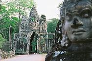 Bayon Temple Entrance, Siem Reap Cambodia Angkor Wat