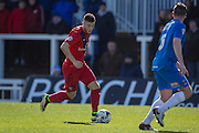 Bradley Fewster of York City FC (32) during  the Sky Bet League 2 match between Hartlepool United and York City at Victoria Park, Hartlepool, England on 16 April 2016. Photo by George Ledger.