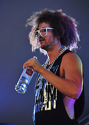 © licensed to London News Pictures. LONDON UK  02/07/11.LMFAO perform at Day 2 of the Wireless Festival in Hyde Park London saw thousands of music fans enjoying the sunshine and the music . Please see special instructions for usage rates. Photo credit should read ALAN ROXBOROUGH/LNP
