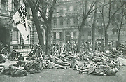 Kapp-Luttwitz Putsch of March 1920, right wing nationalist attempt to overthrow the Weimar Republic. The Erhardt Troop of the Freikorps resting in the Kaiserplatz, Berlin.
