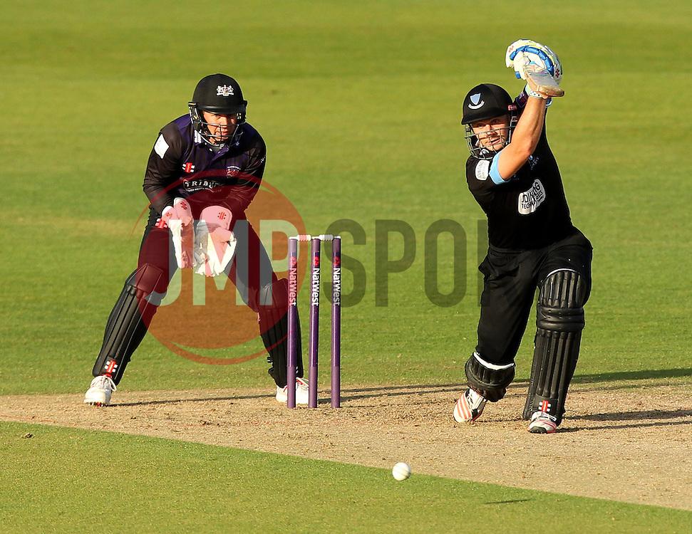 Sussex's Luke Wright bats - Photo mandatory by-line: Robbie Stephenson/JMP - Mobile: 07966 386802 - 26/06/2015 - SPORT - Cricket - Bristol - The County Ground - Gloucestershire v Sussex - Natwest T20 Blast