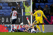 1-1, goal scored by Daryl Murphy of Bolton Wanderers  during the EFL Sky Bet League 1 match between Bolton Wanderers and AFC Wimbledon at the University of  Bolton Stadium, Bolton, England on 7 December 2019.