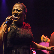 Sharon Jones performs with The Dap Kings at the Lincoln Theater in Washington, D.C. The band performed numerous holiday songs from their latest album, It's A Holiday Soul Party.