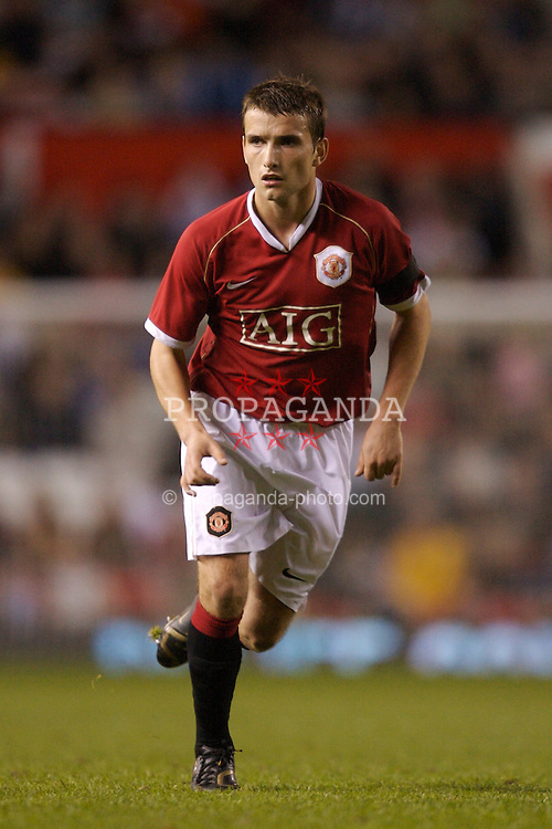 Manchester, England - Thursday, April 26, 2007: Manchester United's Chirs Fagan in action against Liverpool during the FA Youth Cup Final 2nd Leg at Old Trafford. (Pic by David Rawcliffe/Propaganda)