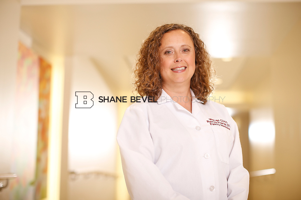 5/28/15 4:12:57 PM -- Dr. Renee Frenier of Saint Francis Health System poses for a portrait for the 2015 Advertising Campaign. <br /> <br /> Photo by Shane Bevel