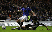 Photo: Paul Thomas.<br /> Glasgow Rangers v Partizan Belgrade. UEFA Cup. 14/12/2006.<br /> <br /> Ranger (L) Filip Sebo is fouled by Milos Mihajlov.